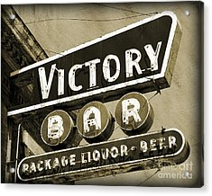 Acrylic Print featuring the photograph Barhopping At The Victory 2 by Lee Craig