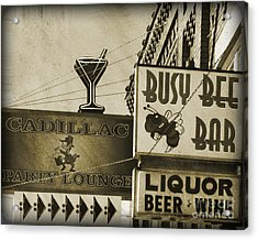 Acrylic Print featuring the photograph Barhopping Cadillac Style 2 by Lee Craig