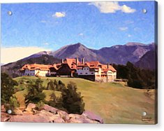 Acrylic Print featuring the painting Bariloche Argentina 1956 by Spyder Webb