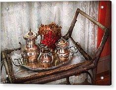 Barista - Tea Set - Morning Tea  Acrylic Print by Mike Savad