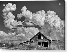 Barn And Clouds Acrylic Print