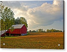 Barn And Sky Acrylic Print