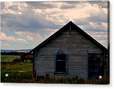 Acrylic Print featuring the photograph Barn And Tractor by Matt Harang
