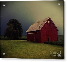 Barn And Tree Acrylic Print by Tim Good