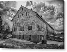 Barn At Amhi   7k00333 Acrylic Print by Guy Whiteley