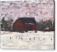 Barn At Myles Acres Acrylic Print