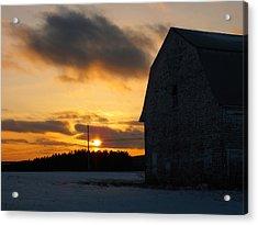 Barn At Sunset Acrylic Print by Gene Cyr
