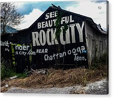 Barn Billboard Acrylic Print
