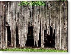 Barn Boards - Rustic Decor Acrylic Print by Gary Heller