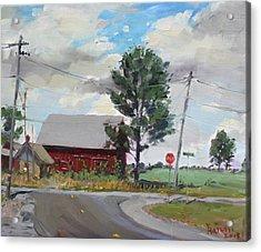 Barn By Lockport Rd Acrylic Print