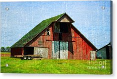 Barn - Central Illinois - Luther Fine Art Acrylic Print by Luther Fine Art