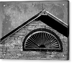 Barn Detail - Black And White Acrylic Print