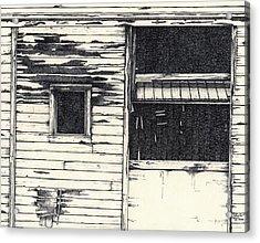 Barn Door #1 Acrylic Print by Cliff Higdon