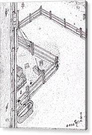 Barn Door Acrylic Print by Clark Letellier