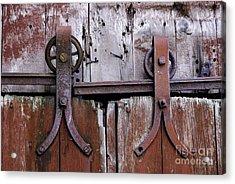 Barn Door Hardware 2008 Acrylic Print by Joseph Duba