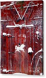 Barn Door In Winter Acrylic Print