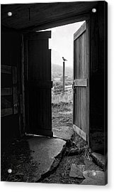 Barn Door - View From Within - Old Barn Picture Acrylic Print