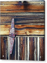 Barn Door Acrylic Print by Wayne Sherriff