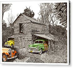 Barn Finds Classic Cars Acrylic Print by Jack Pumphrey
