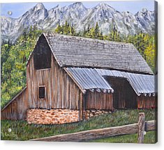 Barn From Yesterday Acrylic Print