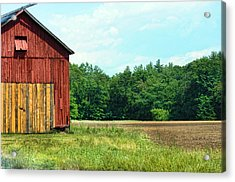 Barn Green Acrylic Print by Kenneth Feliciano