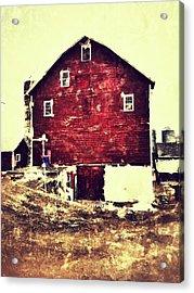 Barn Acrylic Print by H James Hoff