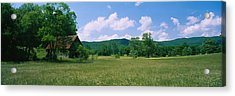 Barn In A Field, Cades Cove, Great Acrylic Print by Panoramic Images