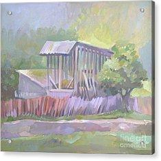 Barn In Agarcia Acrylic Print by Filip Mihail