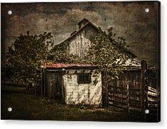 Barn In Morning Light Acrylic Print by Kathy Jennings