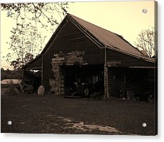 Barn In Moultrie Georgia 2004 Acrylic Print by Cleaster Cotton