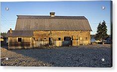 Barn In Rural Washington Acrylic Print by Cathy Anderson