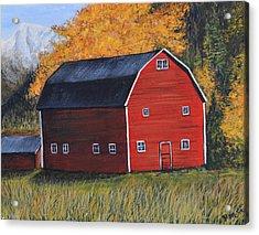 Barn In The Fall Acrylic Print