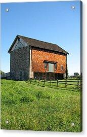 Barn In The Field Acrylic Print by David Nichols