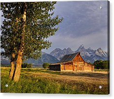 Barn In The Tetons Acrylic Print