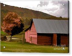 Barn In Vermont Acrylic Print