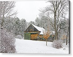 Barn In Winter Acrylic Print