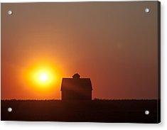 Acrylic Print featuring the digital art Barn Meets Sunset by Dawn Romine