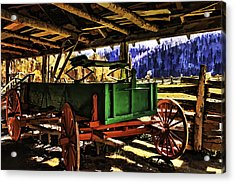 Acrylic Print featuring the painting Barn by Muhie Kanawati