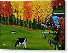 Barn Of Autumn 2 Acrylic Print by Portland Art Creations