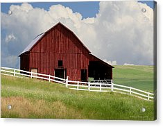 Barn Of The Palouse Acrylic Print by Melisa Meyers