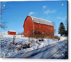 Barn On A Hill Acrylic Print by Christian Mattison