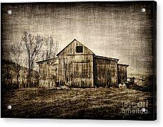 Barn On Farm Acrylic Print by Dan Friend
