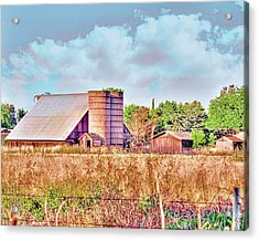 Barn On Interstate 5 Ef Acrylic Print