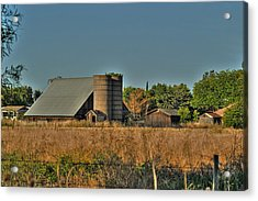 Barn On Interstate 5 Acrylic Print