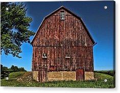 Barn On Kennedy Road Webster Ny Acrylic Print