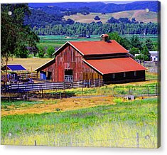 Barn On Route To Fort Bragg Acrylic Print