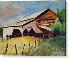 Barn On Rt. 42 Acrylic Print by Judith Espinoza