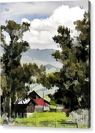 Barn On Santa Rosa Road Acrylic Print