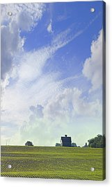 Barn On Top Of The Hill Acrylic Print by Mike McGlothlen