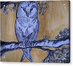 Acrylic Print featuring the painting Barn Owl by Teresa White